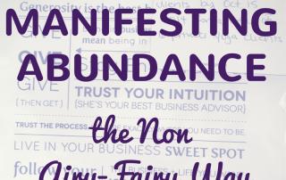 manifesting abundance postit note