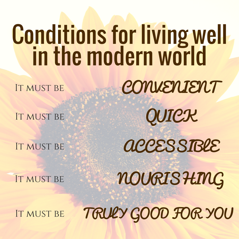 conditions for living well in the modern world