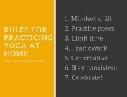 rules for practicing yoga at home