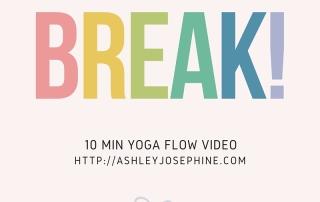 quick fun yoga flow video