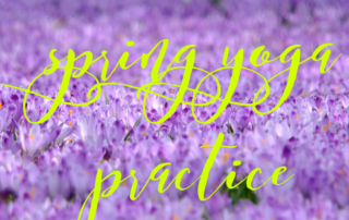spring yoga practice