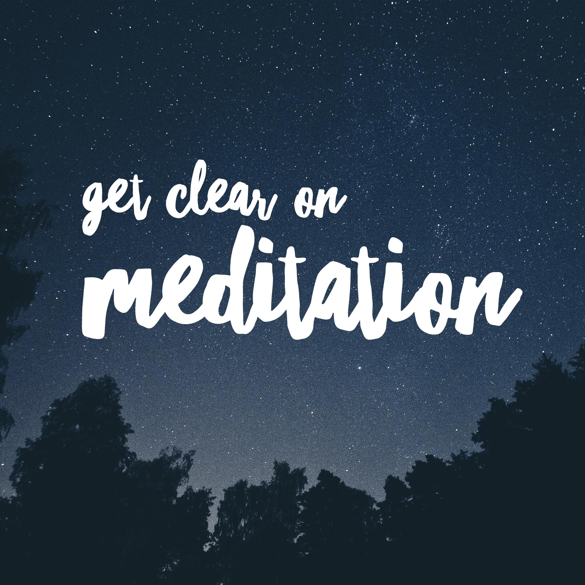 clear meditation